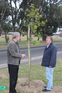 Ald. Clive Justus & Cllr. Brits @ Nampak Bevcan Tree Planting - 21 Sep 15