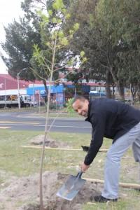 Quinton Koeries @ Nampak Bevcan Tree Planting - 21 Sep 15 (1)