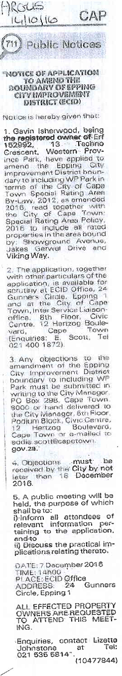 Epping City Improvement District | ECID Proposed Boundary
